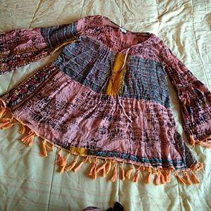 Gauze mini dress